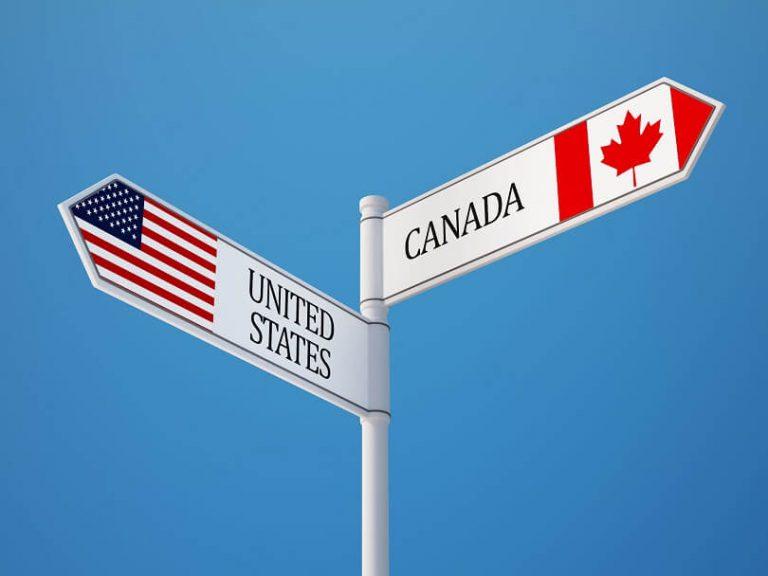 アメリカかカナダ